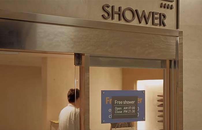 Nhà tắm miễn phí tại sân bay Incheon