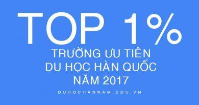 Danh Sách Trường Ưu Tiên 2017