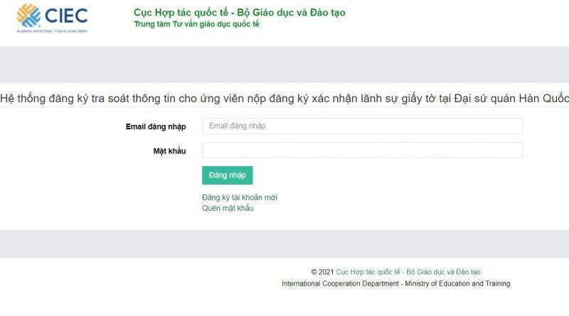[Thông Báo Mới] Hợp Pháp Hóa Lãnh Sự ĐSQ Hàn Quốc Tại Việt Nam 2021